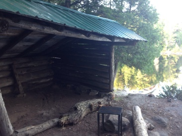 The lean-to at Drummer. Plans are in place to build a lean-three