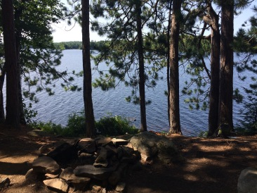 Looking out at Burntroot. The Firepit is in the foreground
