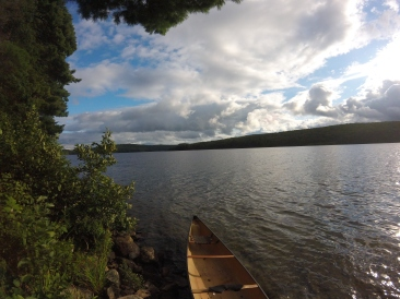 Looking south from the shore. Canoe slip is right in front of you.