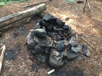Fire pit and grill. I think there are enough rocks.