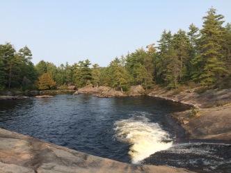 The High Falls natural waterslide. Sadly, no High Falls natural water trampoline. Yet.