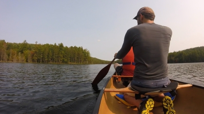Paddling across St. Francis