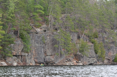 Big rocks, little kayak.