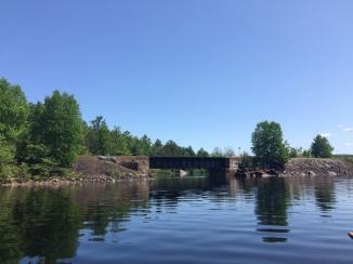 The rail bridge on Kioshkokwi. Totally visible