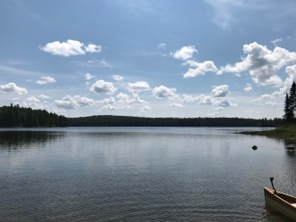 Rain Lake. No rain in sight, but plenty of lake.
