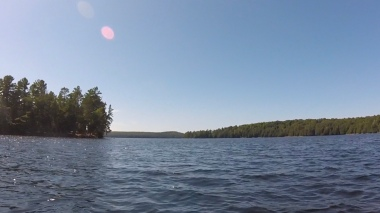 Happy Isle Lake. Party Island on the left. No ghosts.