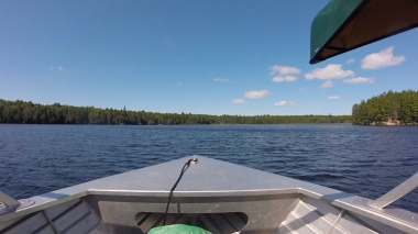 Pulling into the North Arm of Opeongo 15 minutes after we left the access point. I could get used to this.