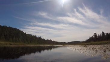 Along the Jerk Heron (uh, Crow) River.