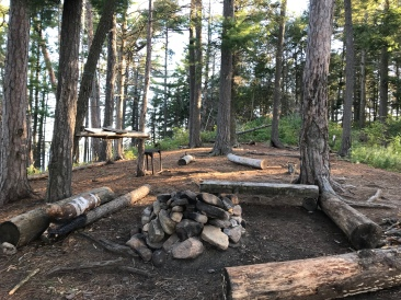 The fire pit area. Unsanctioned bathroom zone is in the background.