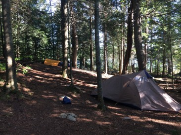 Two tent spots. One slope.