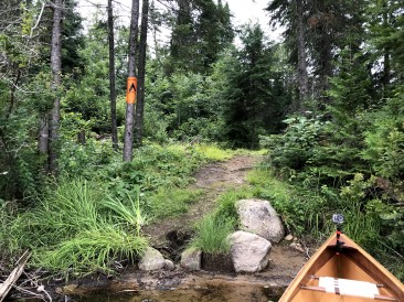 The canoe landing.