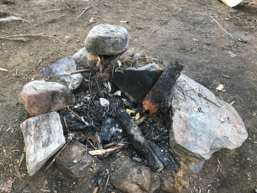 A pit in which you can put a fire. A fire pit, if you will.