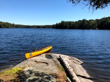 The canoe landing/swimming area