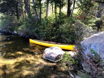 One possible canoe landing