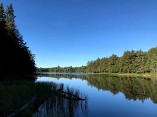 Blue skies. Blue water. Thunder Lake.