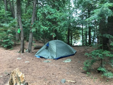 Tent spot at the to of the site.