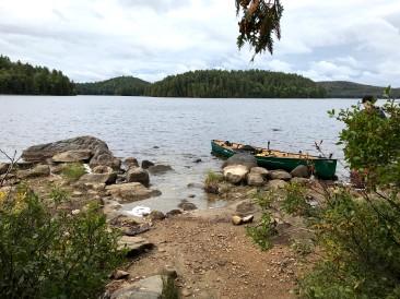 The canoe landing/escape route