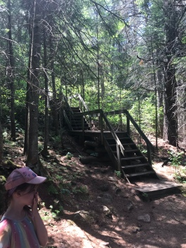 There are quite a few sets of stairs on this trail
