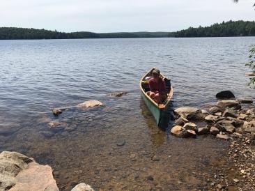 The canoe landing area