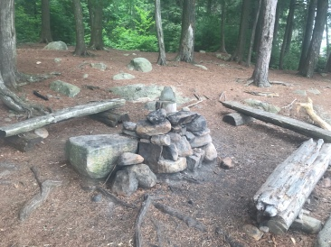 The fire pit area