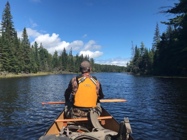 Paddling up the Little Oxtongue