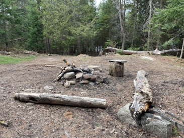 View of the fire pit area