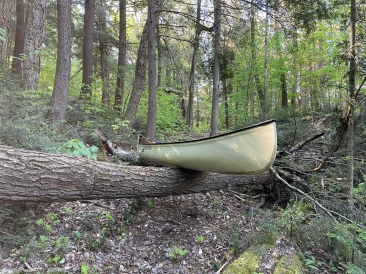 Not the best spot for a canoe rest.