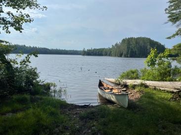 Canoe landing.