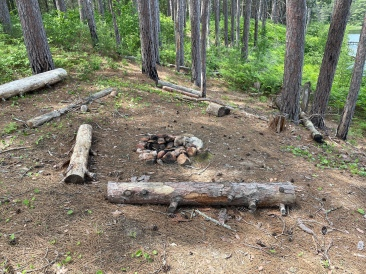 The sunken fire pit at site 3