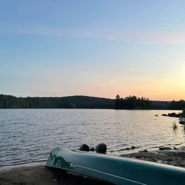 Sunset, no paddle.