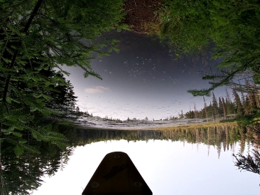 Upside down view from the Islet portage