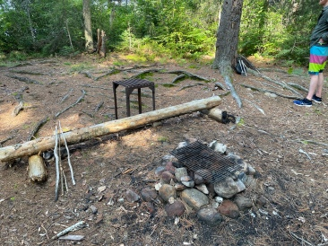 The fire pit on Hilly